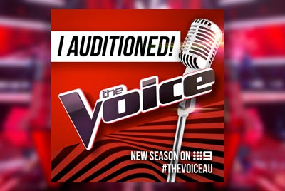 I auditioned for The Voice Australia